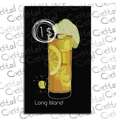 Long Island with price on chalk vector