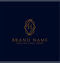 Luxury logotype premium letter h logo with golden vector
