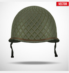 Military US helmet M1 WWII with net vector image
