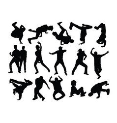 modern dancer silhouette vector image