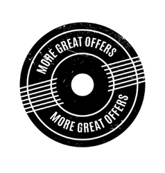 More Great Offers rubber stamp vector