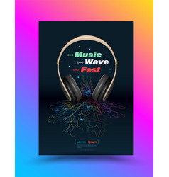 music poster design template vector image