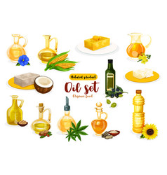 Natural oil butter and margarine vector