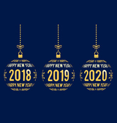 New year graphic elements for years 2018 - 2020 vector
