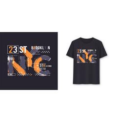 New york city urban graphic t-shirt design vector