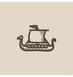 Old ship sketch icon vector image