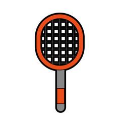 Orange sport racket cartoon vector