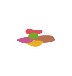 Pebbles icon logo design template vector