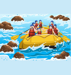 People rafting vector