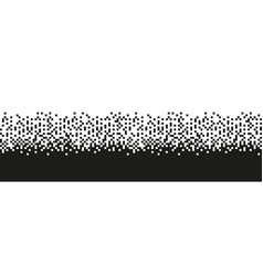 Pixel black and white seamless pattern vector