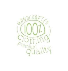 Premium Handcrafted Clothing Vintage Emblem vector image