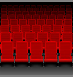 realistic cinema hall red seats movie theater vector image