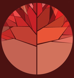 Red autumn tree vector image