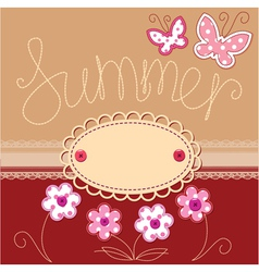 Romantic summer card vector image