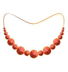 ruby necklace icon cartoon style vector image