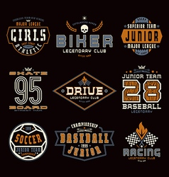 Set of sports emblems vector image