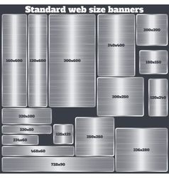 Set of standard size web banners banners with vector