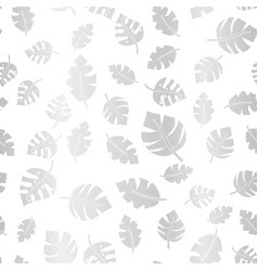 Silver foil leaves seamless background vector