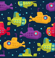 submarine pattern on a dark vector image