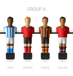 Table football foosball players Group A vector image