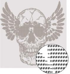text skull design vector image