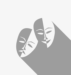 Theatre masks vector image