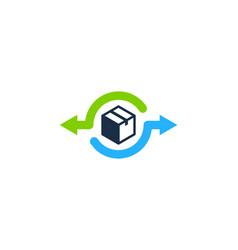 transfer box logo icon design vector image