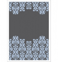 Vector double victorian border frame vector