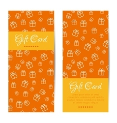 vertical gift cards Banners brochures set vector image