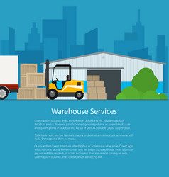 Warehouse services poster design vector