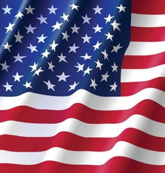 Waving Flag of United State of America USA vector image