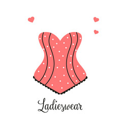 Women fashion logo design template lingerie emblem vector