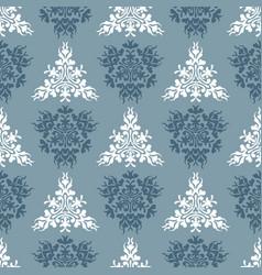 Blue royal spring seamless seasonal background vector