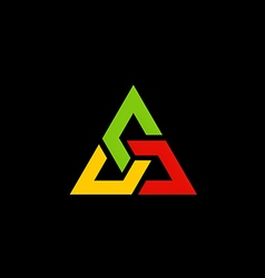 colorful triangle construction logo vector image