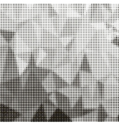 Halftone pattern dots on white background vector