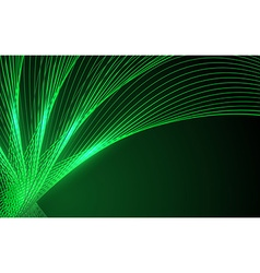 Abstract green waves - data stream concept vector image