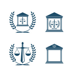 balance law icon emblem vector image