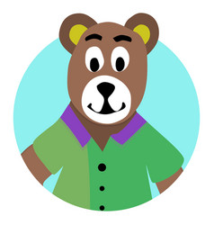 bear animal icon app vector image vector image