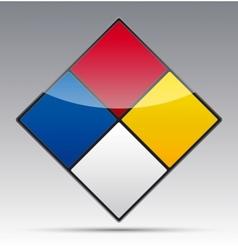 Colour Diamond Symbol vector image