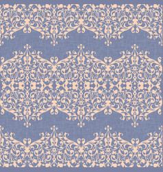 damask ornament linen seamless background vector image vector image