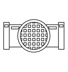 Drain system icon outline style vector