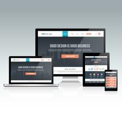 Responsive website design vector
