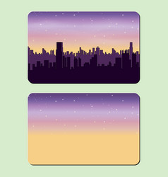 sample design of a credit card night city the vector image vector image