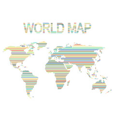 set of monochrome icons with world map vector image