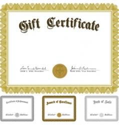 vector ornate award certificate set vector image