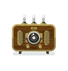 Vintage Radios in Flat Style vector image vector image