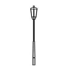 Christmas lamp post light lantern decoration vector