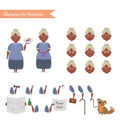 funny grandmother housewife cartoon vector image