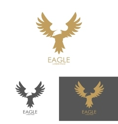 Logo template with eagle silhouette vector image