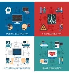 Medical Examination 4 Flat Icons Square vector image vector image